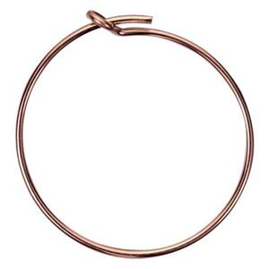 GFR820: Rose Gold-Filled 20mm Wire Hoop Earring