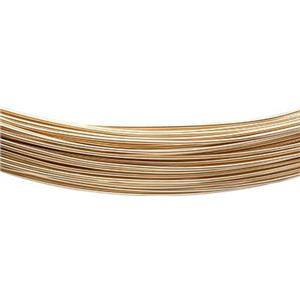 GFW26GA-5: Gold-Filled Soft 26 gauge Round Wire