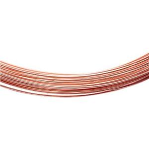 GFWR28GA-5: Rose Gold-Filled Soft 28 gauge Round Wire