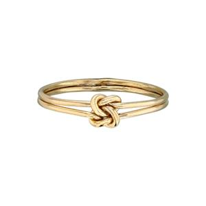 GR4427: 14/20 Gold-Filled Double Knot Double Band Finger Ring