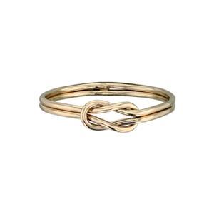 GR4447: 14/20 Gold-Filled Long Knot Finger Ring