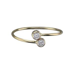 GR5038CZ: 14/20 Gold-filled CZ Set Wrap Adjustable Finger Ring