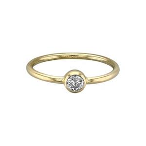 GR547CZ: Stacking Finger Ring with CZ