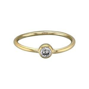 GR548CZ: Stacking Finger Ring with CZ