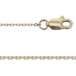 KT113216: 14Kt Gold Diamond Cut Cable Chain with Lobster Claw