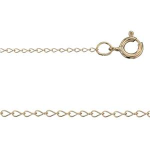 KT132218: Tiny Curb Finished Neck Chain with Spring Ring