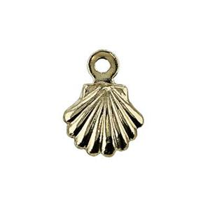 KT2176: 14kt Gold Tiny Shell Charm