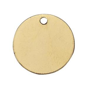 KTB4: 14kt Gold 11mm Circle Blank