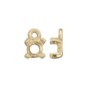 KTC3903: 14Kt Gold Round 4-Prong Cab Charm Setting