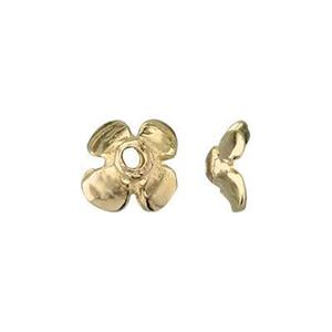 KTM92: 14Kt Gold Flower Bead Cap