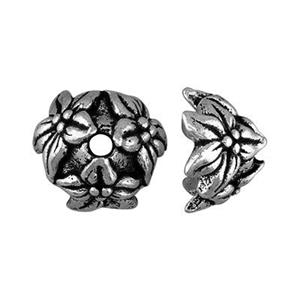 P5515S: Pewter Floral Bead Cap