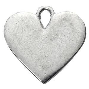 PB4: Pewter Heart Blank