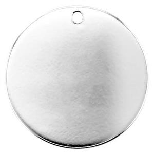 3 Pieces Blank Tags 11mm Sterling Silver 24ga With Hole Round Disc