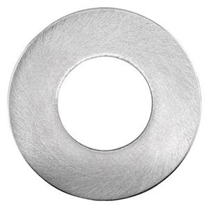 S10056S: Satin Sterling Silver Washer Blank