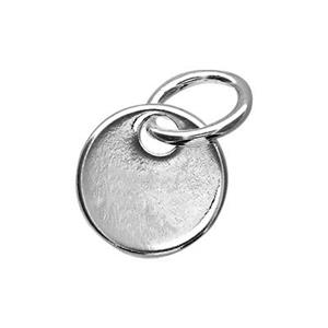 S10095: Small Round Sterling Silver Stamping Blank