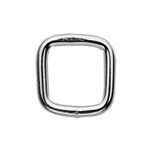 S10389: Sterling Silver 9mm Square Soldered Jump Ring