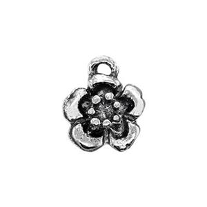 S1094: Sterling Silver Blossom Flower Charm