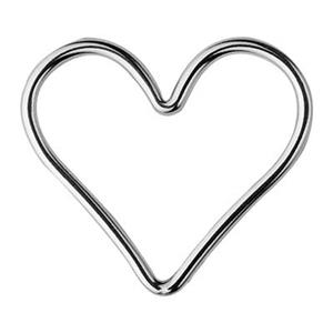 S1115: Sterling Silver Wore Heart Link