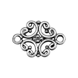 S1239: Sterling Silver Open Scroll Link