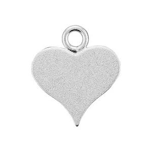 S1519S: Sterling Silver Satin Pointed Heart Blank