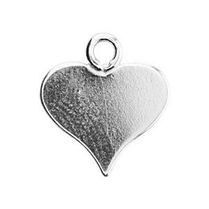 S1519: Sterling Silver Pointed Heart Blanks