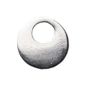 S1570: Contemporary Round Sterling Silver Drop