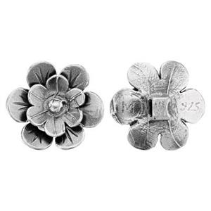 S2015: Sterling Silver Flower Butto