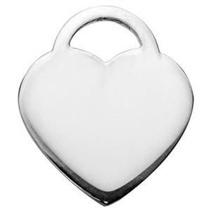 S20154: Bulk Sterling Silver Heart Lock Blanks