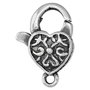 S2158: Embossed Heart Lobster Clasp