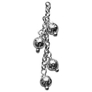 S29173: Sterling Silver Beaded Chain Tassel