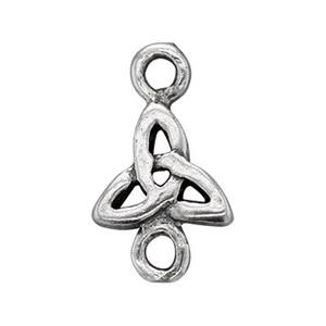 S324: Sterling Silver Celtic Triangle Link