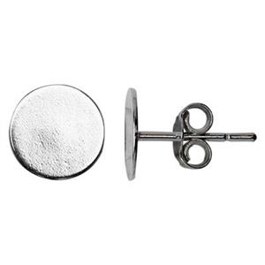 S3608: Sterling Silver 8mm Pad Post Earring Findings