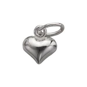 S4201: Sterling Silver Tiny Puff Heart Charm