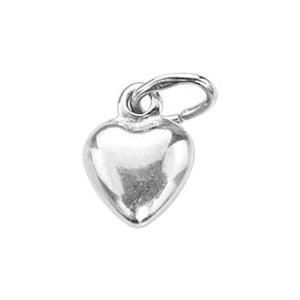S4205: Sterling Silver 6.5mm Puff Heart Charm