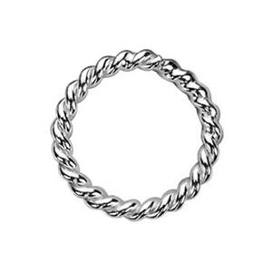 S4210: Sterling Silver 10mm Twisted Soldered Jump Ring