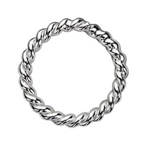 S4212: Sterling Silver 12mm Twisted Soldered Jump Ring