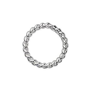 S428: Sterling Silver 8mm Twisted Soldered Jump Ring