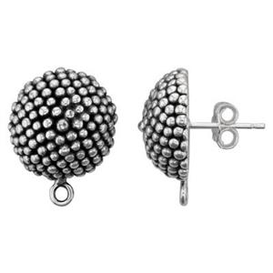 S4395: Large Granular Earring Post