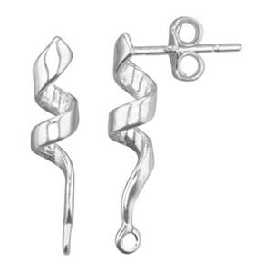 S4397: Ribbon Twirl Post Earring