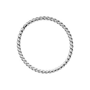 S4810: Sterling Silver 10mm Twisted Soldered Jump Ring
