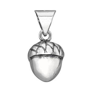 S4834: Sterling Silver Hollow Acorn Charm