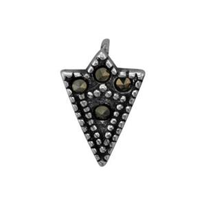 S4842MC: Marcasite Set Triangle Charm