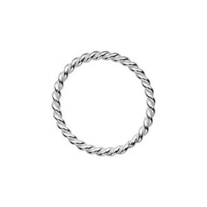 S488: Sterling Silver 8mm Twisted Soldered Jump Ring