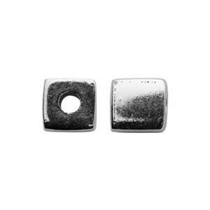 S4904: Sterling Silver 4mm Cube Bead