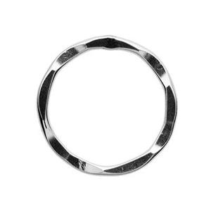 S4962: Sterling Silver 24mm Hammered Circle Ring Link
