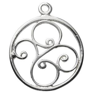 S5124: Sterling Silver Filigree Circle Charm