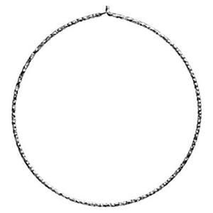 S5140DC: Sterling Silver 40mm Diamond Cut Wire Hoop Earing