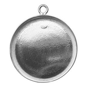 S5218: Sterling Silver 18mm Round Bezel Pendant Setting