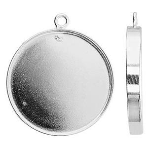 S5220: 20mm Bezel Pendant, 3mm Cup Depth, 1.5mm Closed Ring ID
