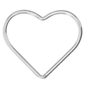 S543: Sterling Silver Large Wire Heart Link